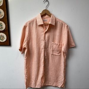 Loro Piana 100% Linen Button Down Shirt